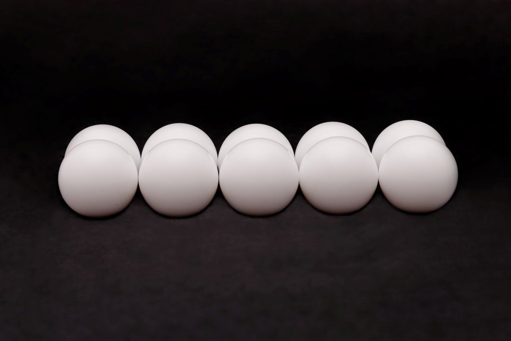 Esferas de plástico