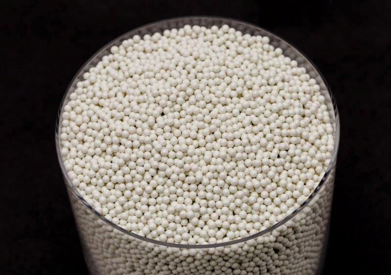 Esferas de silicato de zircônio